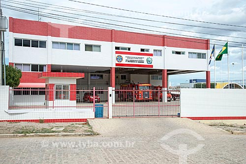 Fachada do quartel do Corpo de Bombeiros de Salgueiro  - Salgueiro - Pernambuco (PE) - Brasil