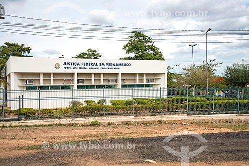 Edifício sede da Justiça Federal na cidade de Salgueiro  - Salgueiro - Pernambuco (PE) - Brasil