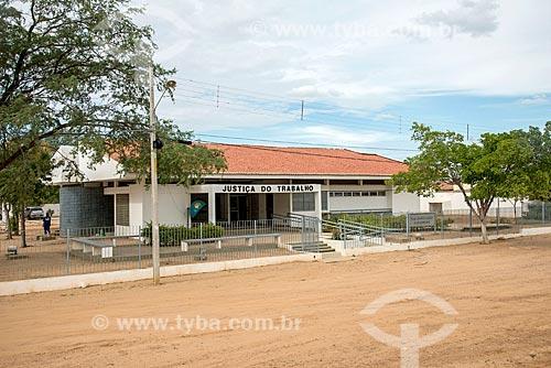 Edifício sede da Justiça do Trabalho na cidade de Salgueiro  - Salgueiro - Pernambuco (PE) - Brasil