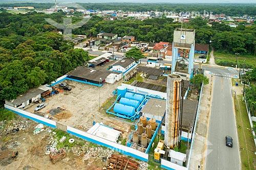 Foto feita com drone da Estação de Tratamento de Água de Bertioga  - Bertioga - São Paulo (SP) - Brasil