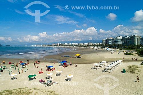 Foto feita com drone da Praia da Riviera de São Lourenço  - Bertioga - São Paulo (SP) - Brasil