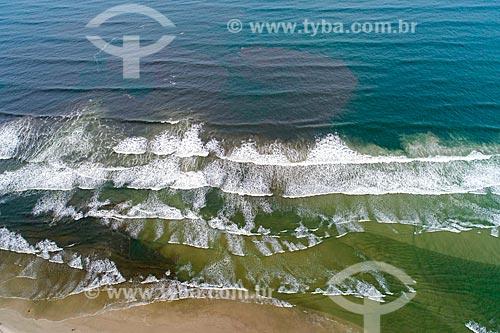 Foto feita com drone da Praia de São Lourenço  - Bertioga - São Paulo (SP) - Brasil