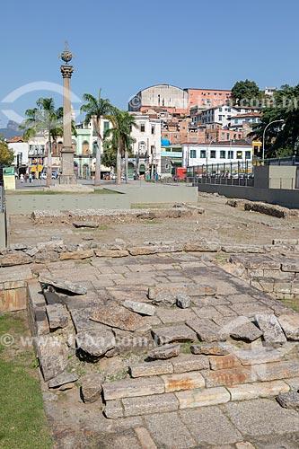 Vista do Cais do Valongo e Cais da Imperatriz - importante ponto de desembarque de escravos na cidade, recuperados após escavações do Projeto Porto Maravilha  - Rio de Janeiro - Rio de Janeiro (RJ) - Brasil
