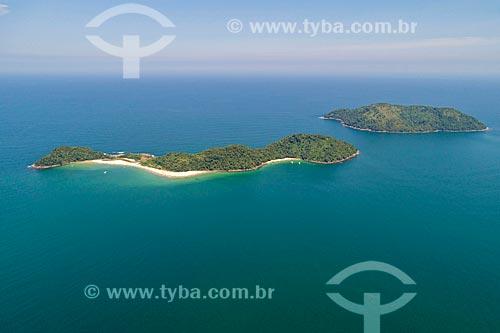 Foto feita com drone da As ilhas e a Ilha das Couves de São Sebastião  - São Sebastião - São Paulo (SP) - Brasil