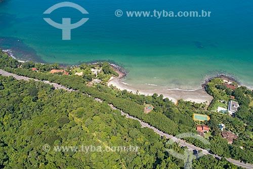 Foto feita com drone da Rodovia Doutor Manuel Hipólito Rego (SP-055) próximo à Praia Preta  - São Sebastião - São Paulo (SP) - Brasil