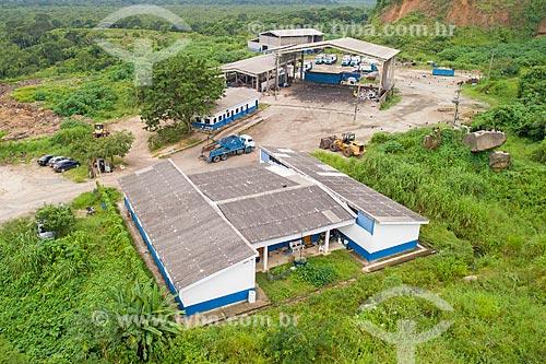 Foto feita com drone da Central de Tratamento de Resíduos (CTR) da cidade de Bertioga  - Bertioga - São Paulo (SP) - Brasil