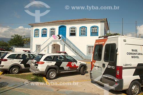 Fachada do Batalhão da Polícia Militar - antiga Casa de Câmara e Cadeia  - São Sebastião - São Paulo (SP) - Brasil