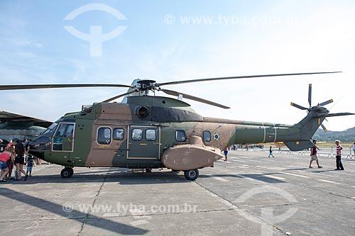 Helicóptero Super Puma CH-34 da Força Aérea Brasileira em exibição na Base Aérea dos Afonsos  - Rio de Janeiro - Rio de Janeiro (RJ) - Brasil