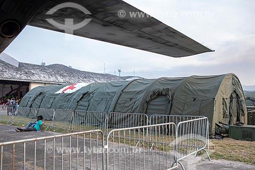 Hospital de Campanha da Força Aérea Brasileira - unidade móvel de atendimento médico - durante a comemoração dos 145 anos do nascimento de Santos Dumont  - Rio de Janeiro - Rio de Janeiro (RJ) - Brasil