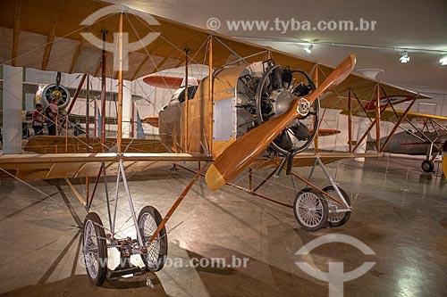 Avião Caudron G-3 - utilizado pela aviadora Anésia Pinheiro Machado na primeira travessia interestadual entre São Paulo e Rio de Janeiro em 09 de setembro de 1922 - em exibição no Museu Aeroespacial  - Rio de Janeiro - Rio de Janeiro (RJ) - Brasil