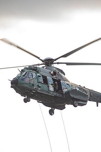Helicóptero Super Puma AK-34 durante a comemoração dos 145 anos do nascimento de Santos Dumont na Base Aérea dos Afonsos  - Rio de Janeiro - Rio de Janeiro (RJ) - Brasil