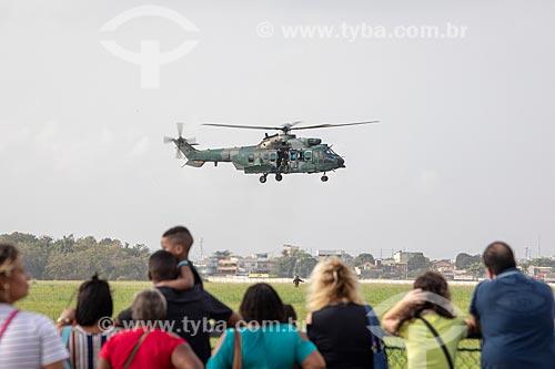 Helicóptero Super Puma AK-34 durante a comemoração dos 145 anos do nascimento de Santos Dumont  - Rio de Janeiro - Rio de Janeiro (RJ) - Brasil