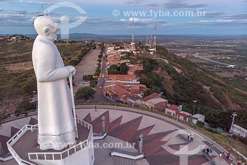 Foto feita com drone da Estátua de Padre Cícero (1969) na Colina do Horto  - Juazeiro do Norte - Ceará (CE) - Brasil