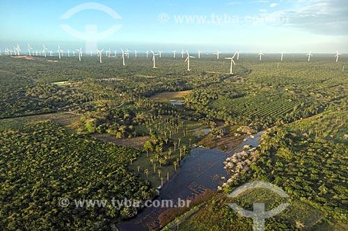 Foto feita com drone do Parque Eólico do Trairi  - Trairi - Ceará (CE) - Brasil