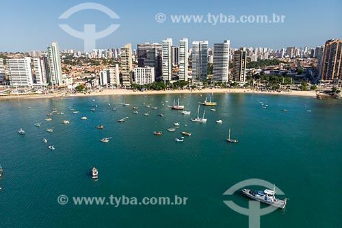 Foto feita com drone da Praia de Mucuripe  - Fortaleza - Ceará (CE) - Brasil
