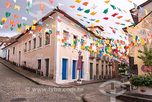 Casarios no centro histórico da cidade de São Luís  - São Luís - Maranhão (MA) - Brasil