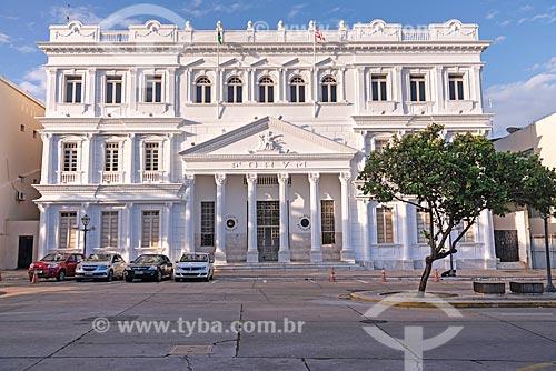 Fachada do Palácio da Justiça (1900) - sede do Tribunal de Justiça de Manaus  - São Luís - Maranhão (MA) - Brasil