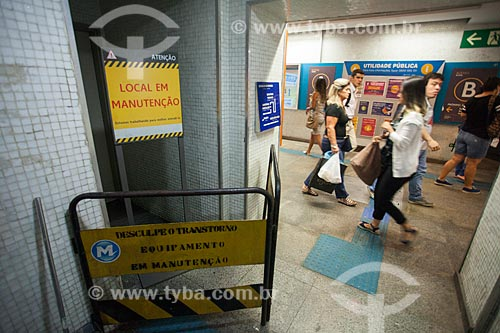 Área em manutenção na Estação Botafogo do Metrô Rio  - Rio de Janeiro - Rio de Janeiro (RJ) - Brasil