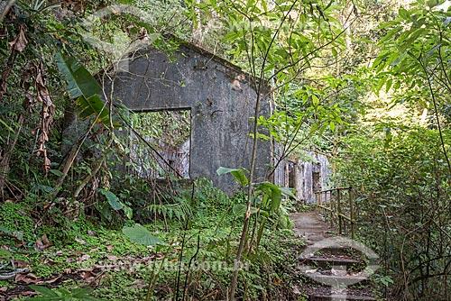 Ruína de antiga casa no Parque Nacional da Tijuca  - Rio de Janeiro - Rio de Janeiro (RJ) - Brasil