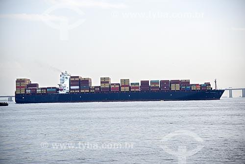 Navio cargueiro na Baía de Guanabara  - Rio de Janeiro - Rio de Janeiro (RJ) - Brasil