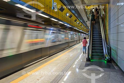 Metrô na Estação Jardim de Alah do Metrô Rio  - Rio de Janeiro - Rio de Janeiro (RJ) - Brasil
