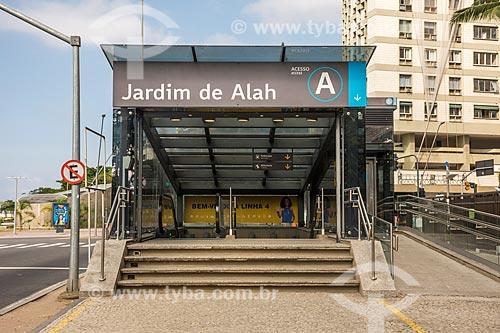 Entrada da Estação Jardim de Alah do Metrô Rio  - Rio de Janeiro - Rio de Janeiro (RJ) - Brasil