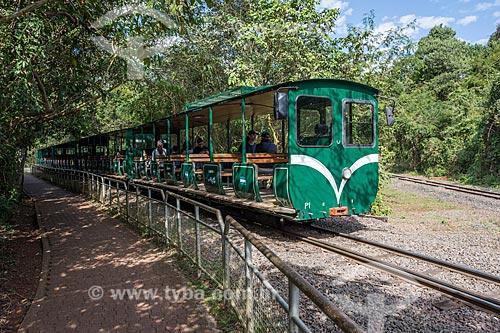 Trem Ecológico da Selva - que faz o passeio turístico dentro do Parque Nacional do Iguaçu  - Puerto Iguazú - Província de Misiones - Argentina
