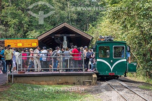 Trem Ecológico da Selva - que faz o passeio turístico dentro do Parque Nacional do Iguaçu - na Estação Cataratas  - Puerto Iguazú - Província de Misiones - Argentina