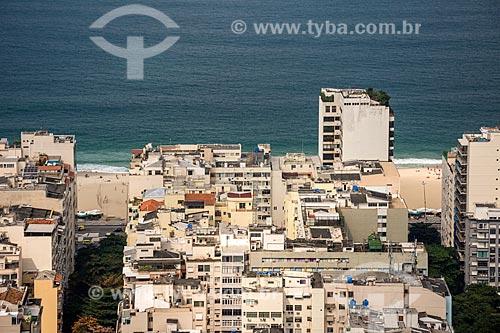 Vista da Praia de Copacabana durante a trilha do Pico da Agulha do Inhangá no Parque Estadual da Chacrinha  - Rio de Janeiro - Rio de Janeiro (RJ) - Brasil
