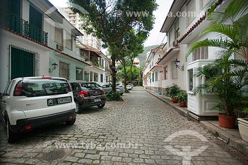 Fachada de casas na Travessa Doux  - Rio de Janeiro - Rio de Janeiro (RJ) - Brasil