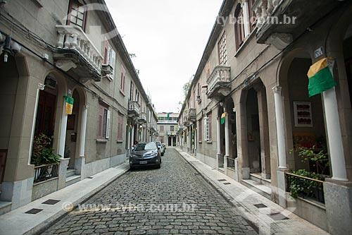 Fachada de casas na Travessa Abrunhosa  - Rio de Janeiro - Rio de Janeiro (RJ) - Brasil