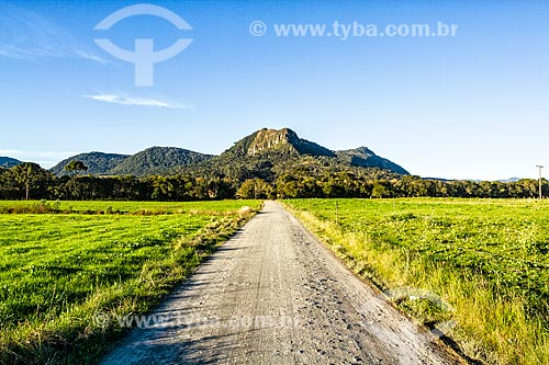 Vista na paisagem na zona rural da cidade de Guarani  - Urubici - Santa Catarina (SC) - Brasil