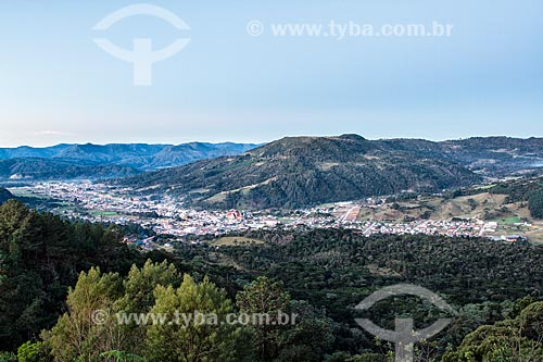 Vista geral da cidade de Urubici a partir do mirante na Rodovia SC-110  - Urubici - Santa Catarina (SC) - Brasil