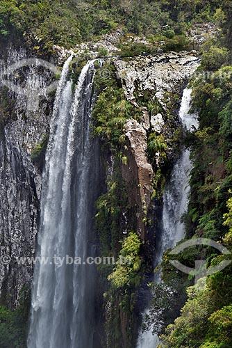 Vista da Cachoeira das Andorinhas no Cânion do Itaimbezinho - Parque Nacional dos Aparados da Serra  - Cambará do Sul - Rio Grande do Sul (RS) - Brasil