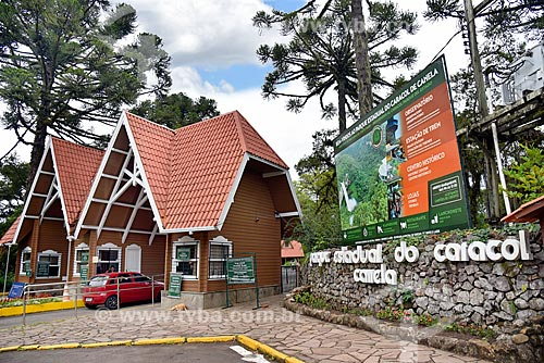 Entrada do Parque Estadual do Caracol  - Canela - Rio Grande do Sul (RS) - Brasil