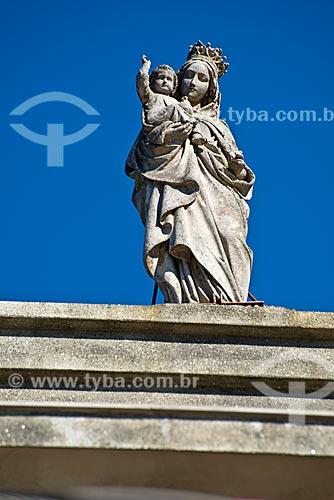 Detalhe de estátua de Nossa Senhora de Lourdes  - Canela - Rio Grande do Sul (RS) - Brasil