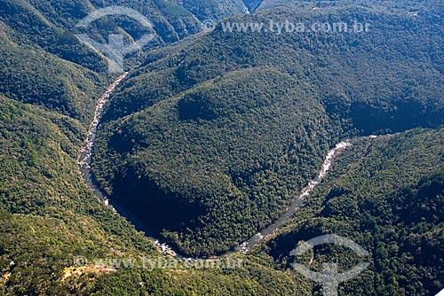 Foto aérea do Vale da Ferradura  - Canela - Rio Grande do Sul (RS) - Brasil