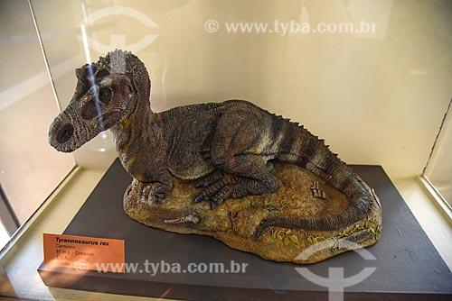 Réplica de Tyrannosaurus rex em exibição no Museu Nacional - antigo Paço de São Cristóvão  - Rio de Janeiro - Rio de Janeiro (RJ) - Brasil