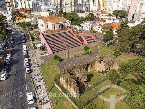 Foto feita com drone das ruínas de São Francisco na Praça João Cândido  - Curitiba - Paraná (PR) - Brasil