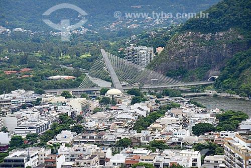 Foto aérea da Ponte estaiada na linha 4 do Metrô Rio  - Rio de Janeiro - Rio de Janeiro (RJ) - Brasil