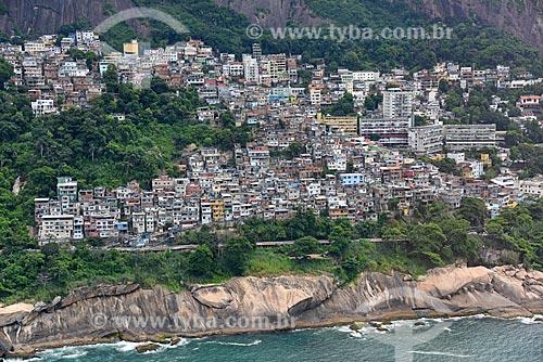 Foto aérea do Favela do Vidigal  - Rio de Janeiro - Rio de Janeiro (RJ) - Brasil