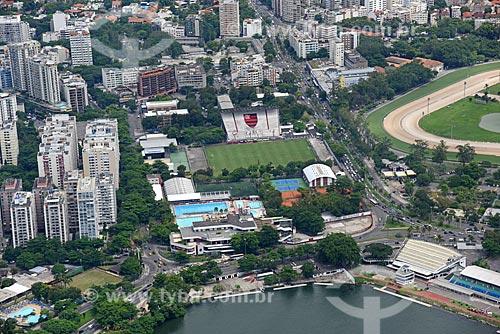 Foto aérea do Clube de Regatas do Flamengo  - Rio de Janeiro - Rio de Janeiro (RJ) - Brasil