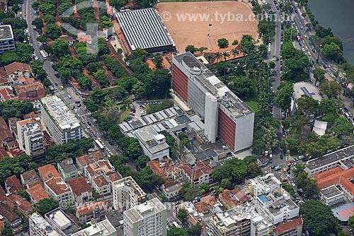 Foto aérea do Hospital Federal da Lagoa (1958)  - Rio de Janeiro - Rio de Janeiro (RJ) - Brasil