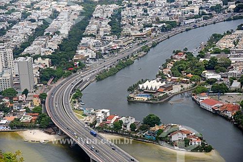 Foto aérea do Avenida Ministro Ivan Lins com o Canal da Joatinga  - Rio de Janeiro - Rio de Janeiro (RJ) - Brasil