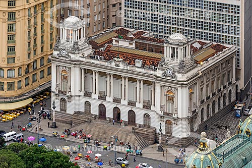 Vista de cima do Palácio Pedro Ernesto (1923) - sede da Câmara Municipal do Rio de Janeiro  - Rio de Janeiro - Rio de Janeiro (RJ) - Brasil