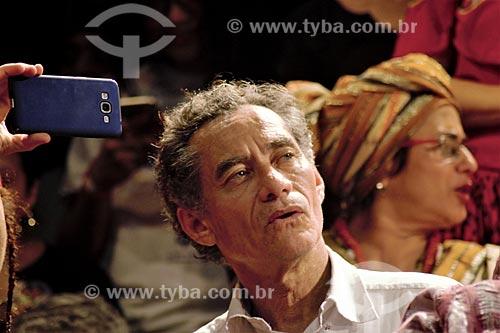 Chico Diaz durante o comício da campanha de Fernando Haddad à presidência pelo Partido dos Trabalhadores (PT) na Cinelândia  - Rio de Janeiro - Rio de Janeiro (RJ) - Brasil