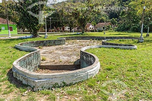 Lago artificial abandonado em parque na Vila de Dois Rios  - Angra dos Reis - Rio de Janeiro (RJ) - Brasil