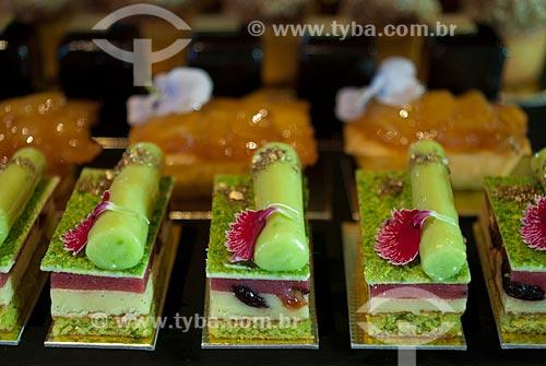 Detalhe de doces finos  - Canela - Rio Grande do Sul (RS) - Brasil