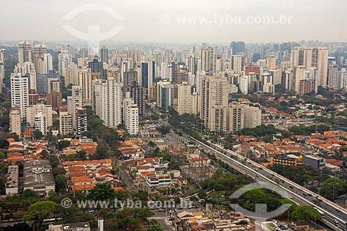Foto aérea de prédios na cidade de São Paulo  - São Paulo - São Paulo (SP) - Brasil