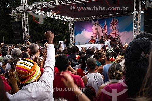 Missa campal no dia de São Jorge na Igreja São Gonçalo Garcia e São Jorge  - Rio de Janeiro - Rio de Janeiro (RJ) - Brasil